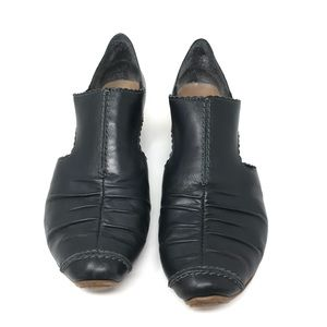 Rieker Shoes - SOLD🎉Rieker Heels Black Pleated Leather Shoes 9